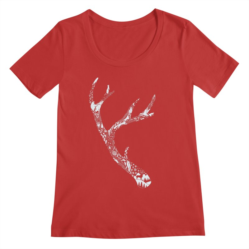 Tracks And Signs Women's Regular Scoop Neck by thepapercrane's shop