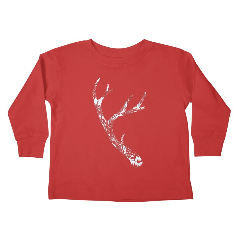 Tracks And Signs Kids Toddler Longsleeve T-Shirt by thepapercrane's shop
