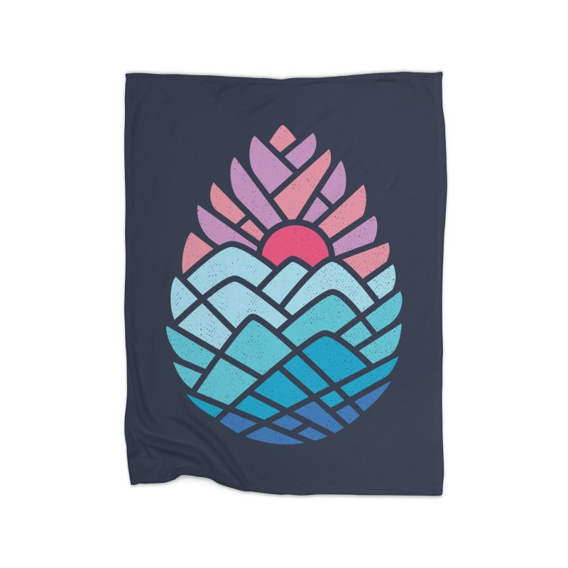 Alpine Home Fleece Blanket Blanket by thepapercrane's shop