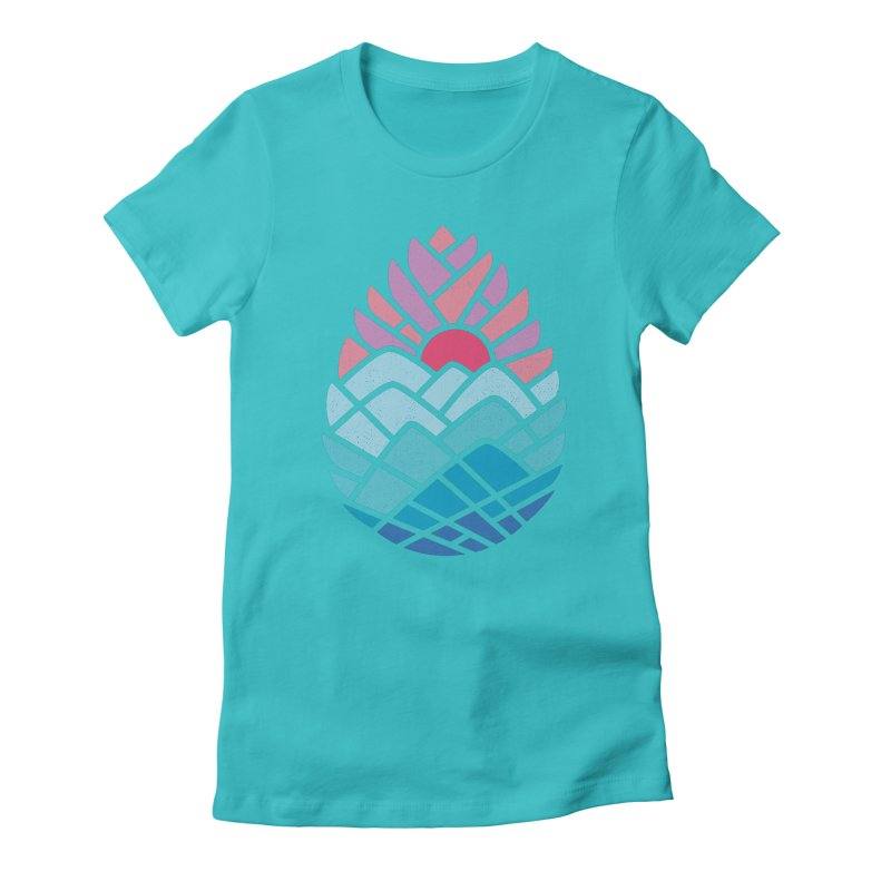 Alpine Women's Fitted T-Shirt by thepapercrane's shop