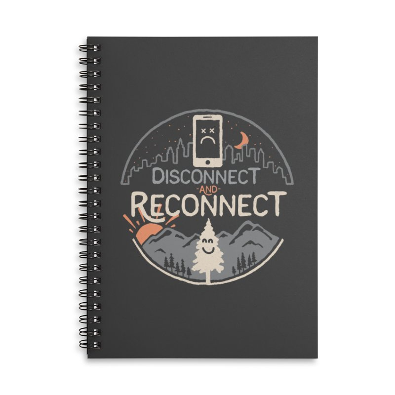 Reconnect Accessories Lined Spiral Notebook by thepapercrane's shop