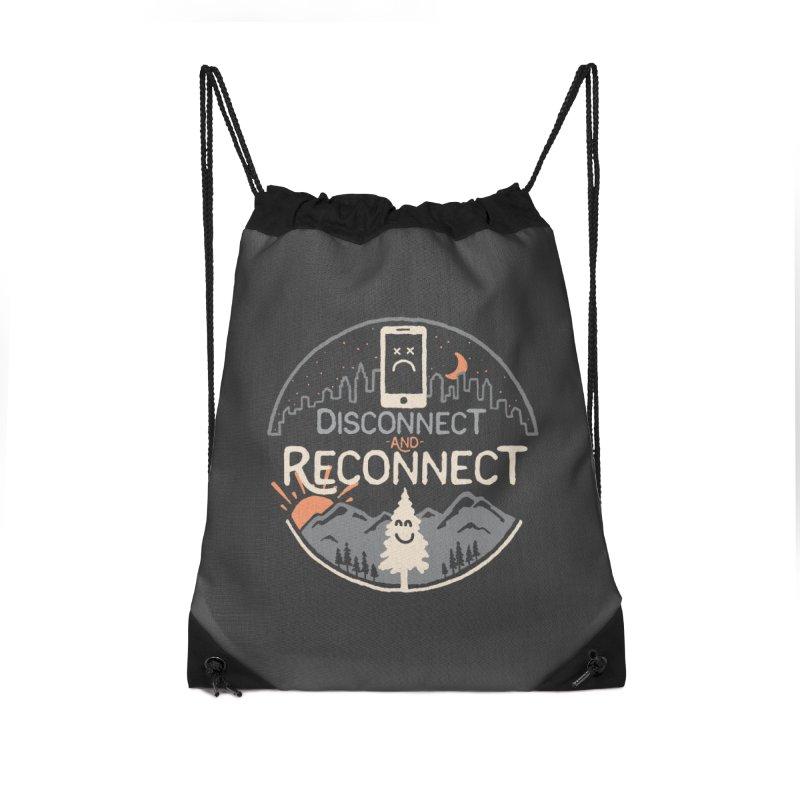 Reconnect Accessories Drawstring Bag Bag by thepapercrane's shop