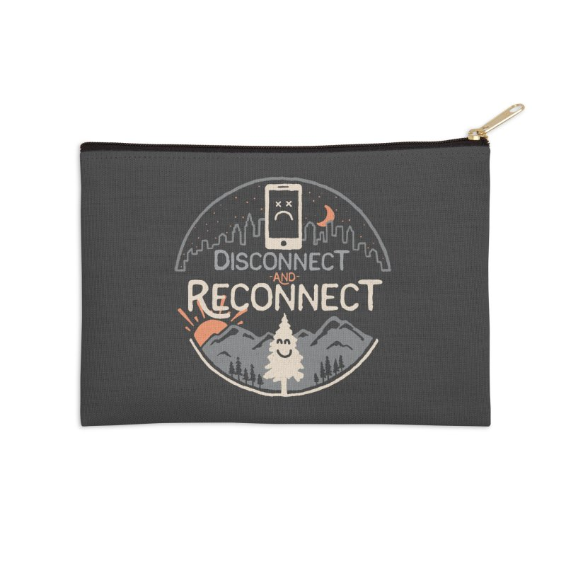 Reconnect Accessories Zip Pouch by thepapercrane's shop