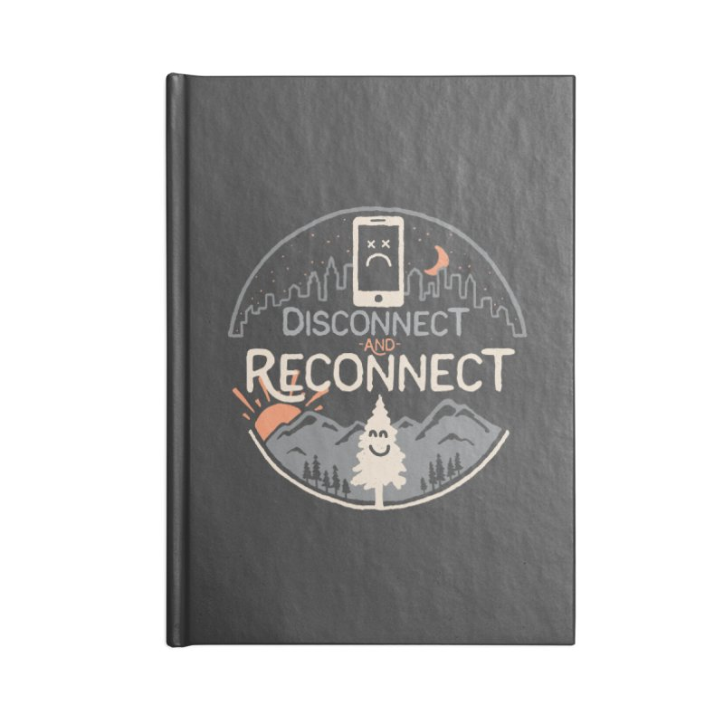 Reconnect Accessories Blank Journal Notebook by thepapercrane's shop