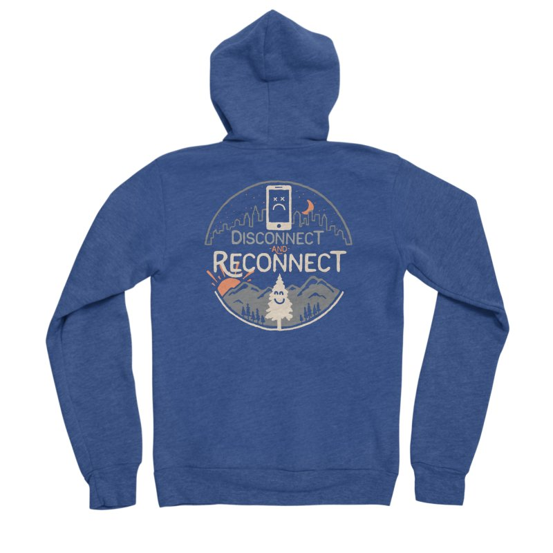 Reconnect Men's Sponge Fleece Zip-Up Hoody by thepapercrane's shop