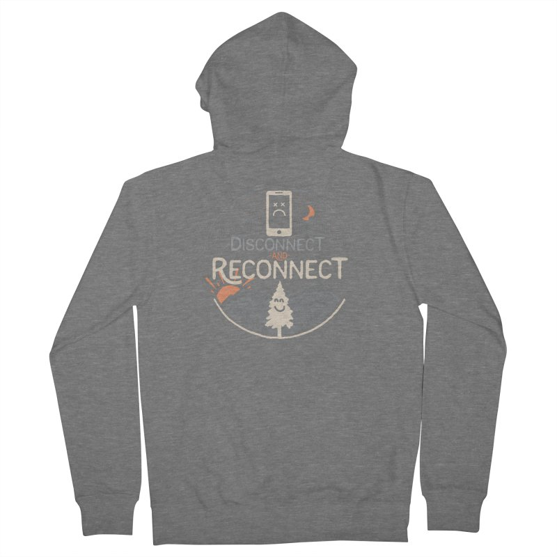 Reconnect Men's French Terry Zip-Up Hoody by thepapercrane's shop