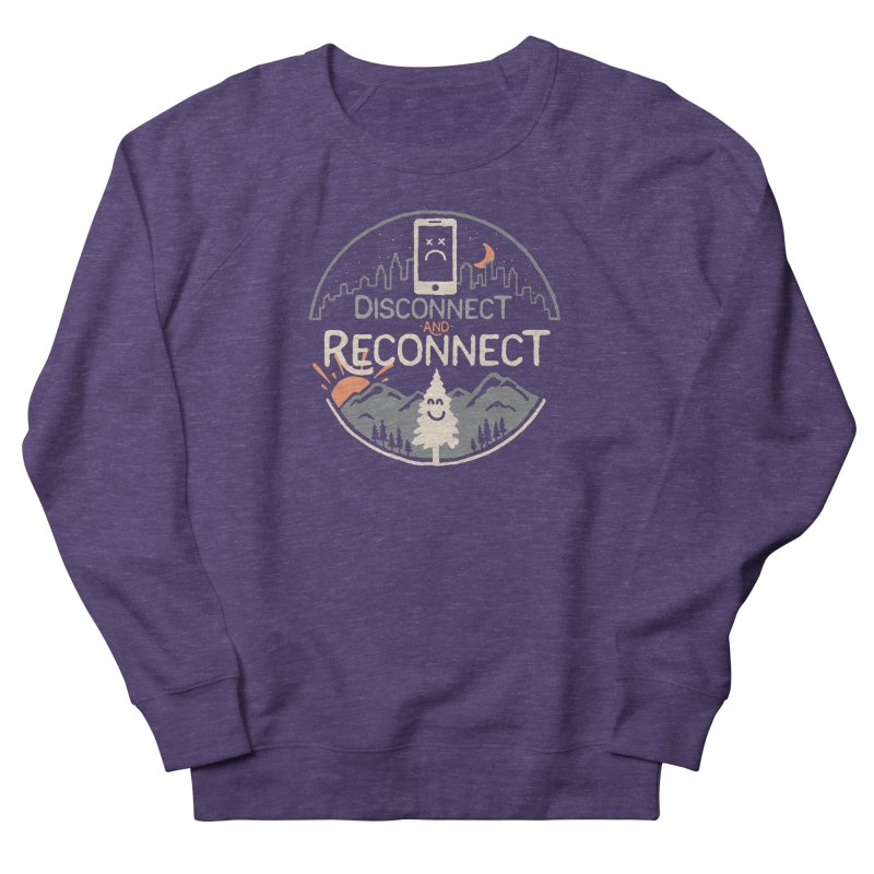Reconnect Women's French Terry Sweatshirt by thepapercrane's shop