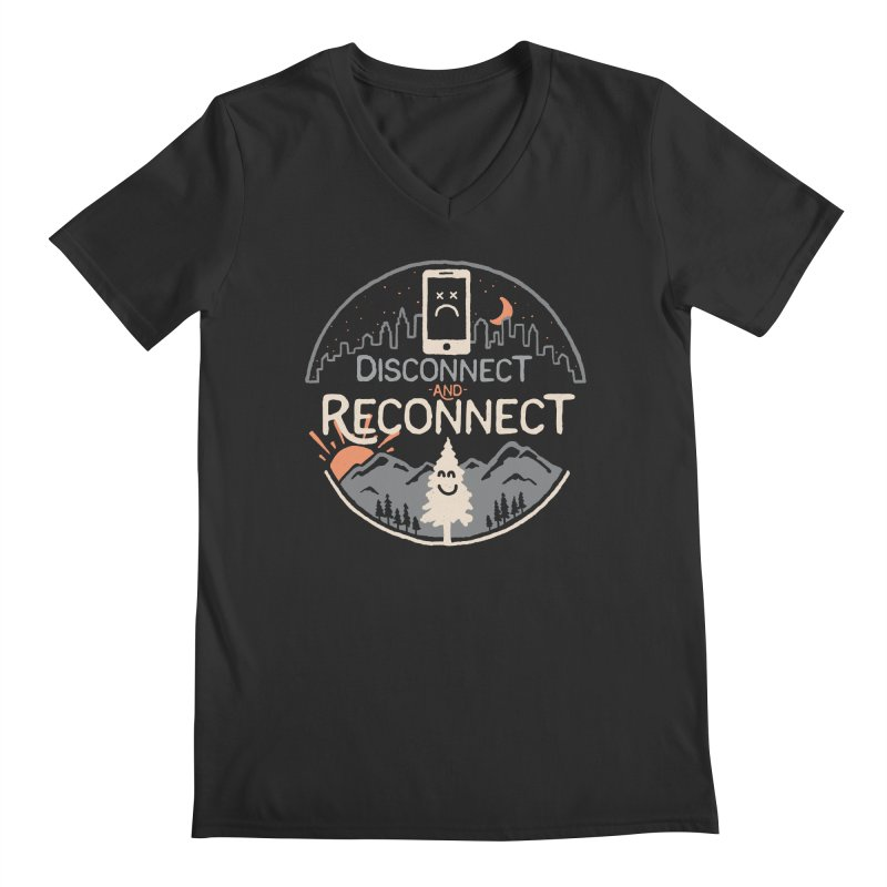 Reconnect Men's Regular V-Neck by thepapercrane's shop