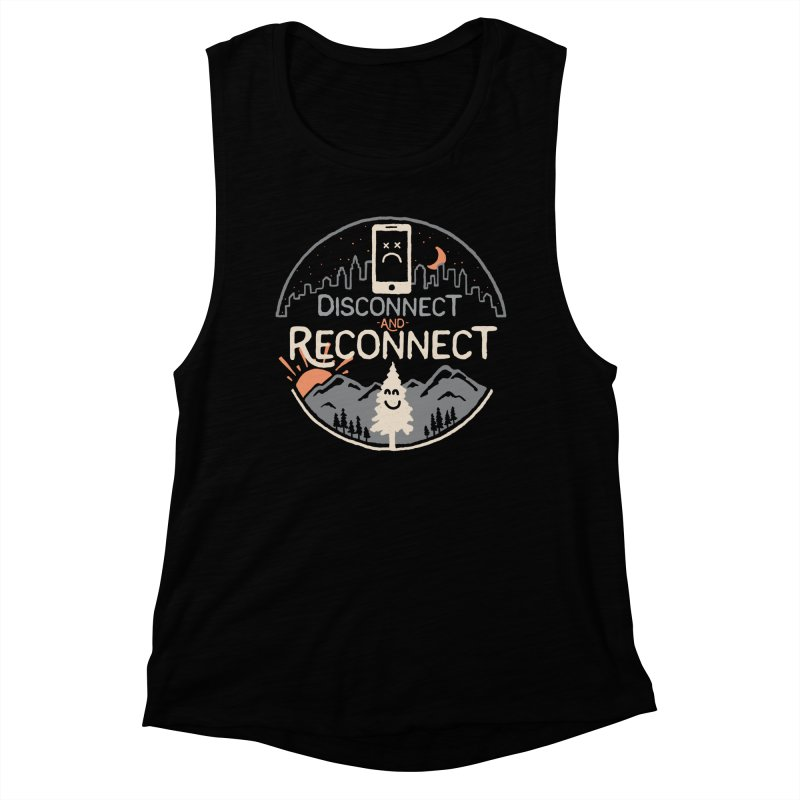 Reconnect Women's Muscle Tank by thepapercrane's shop