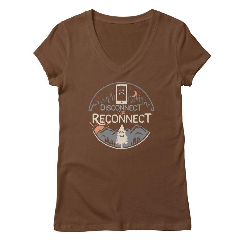 Reconnect Women's Regular V-Neck by thepapercrane's shop