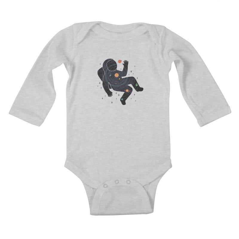 Inner Space Kids Baby Longsleeve Bodysuit by thepapercrane's shop