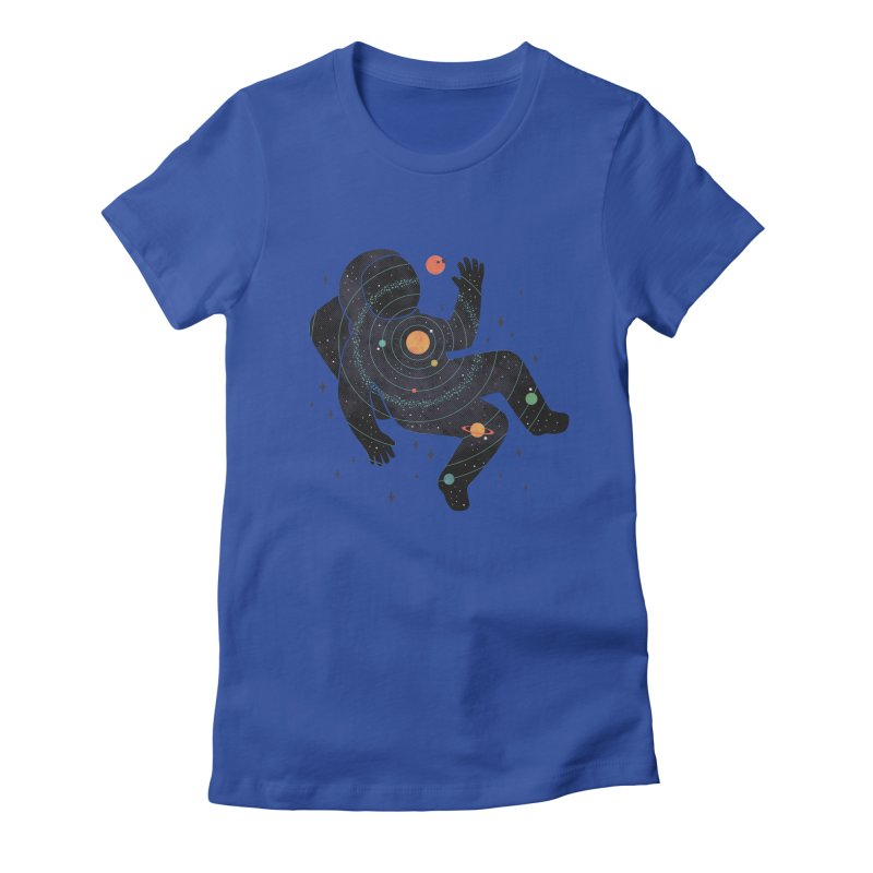 Inner Space Women's T-Shirt by thepapercrane's shop