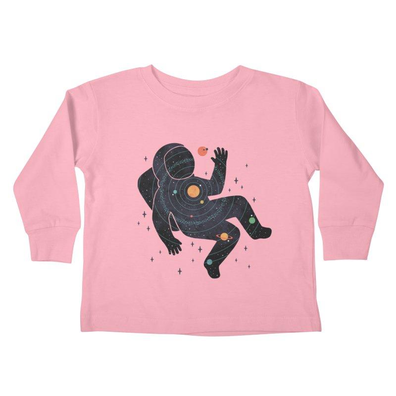 Inner Space Kids Toddler Longsleeve T-Shirt by thepapercrane's shop