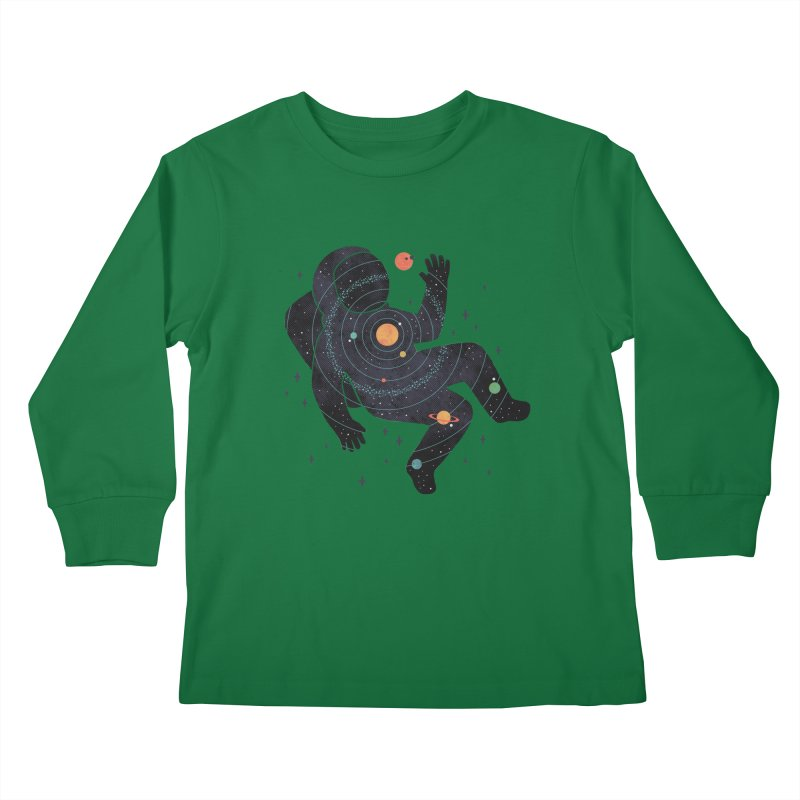 Inner Space Kids Longsleeve T-Shirt by thepapercrane's shop