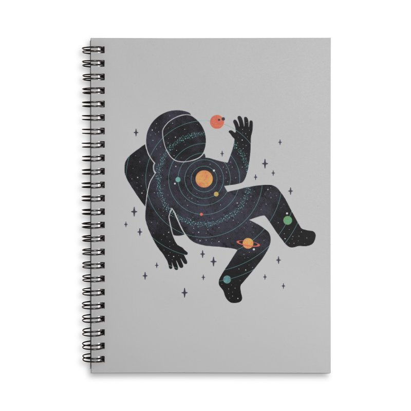 Inner Space Accessories Lined Spiral Notebook by thepapercrane's shop
