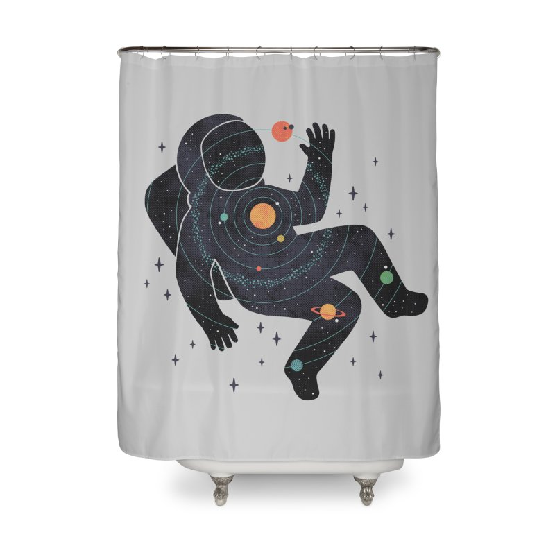 Inner Space Home Shower Curtain by thepapercrane's shop
