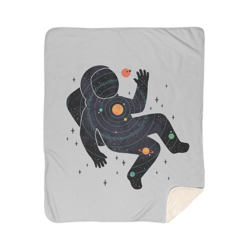 Inner Space Home Sherpa Blanket Blanket by thepapercrane's shop