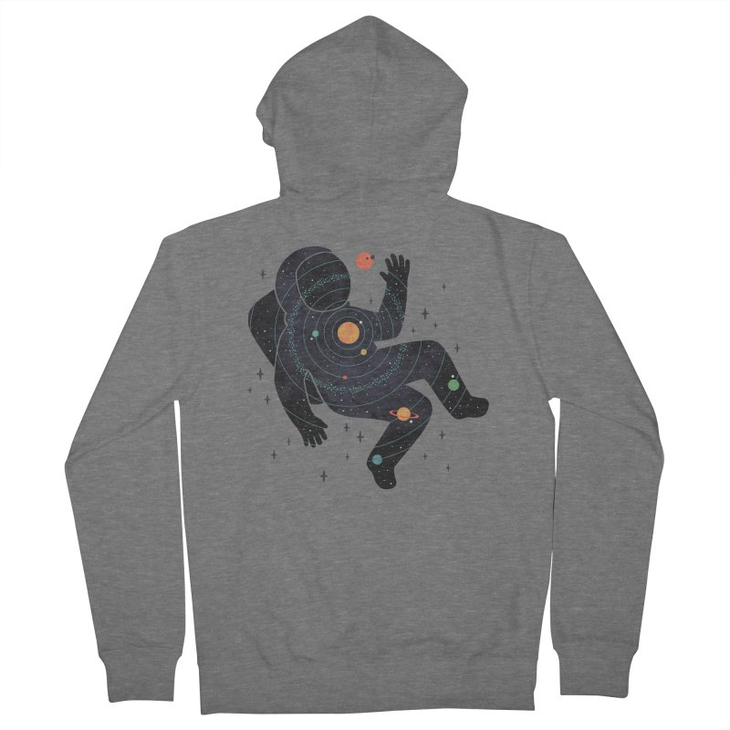 Inner Space Men's French Terry Zip-Up Hoody by thepapercrane's shop
