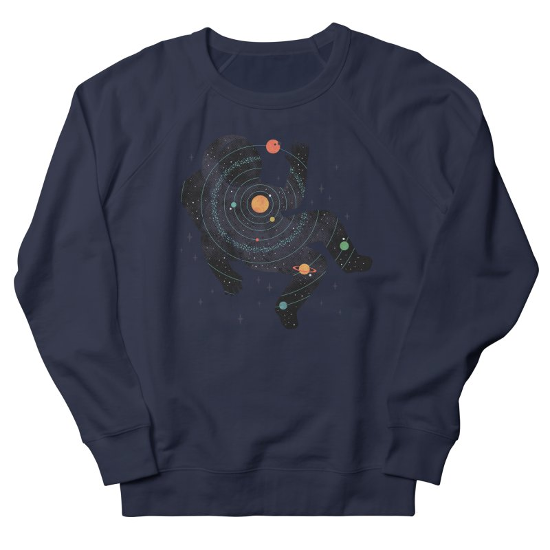 Inner Space Men's French Terry Sweatshirt by thepapercrane's shop