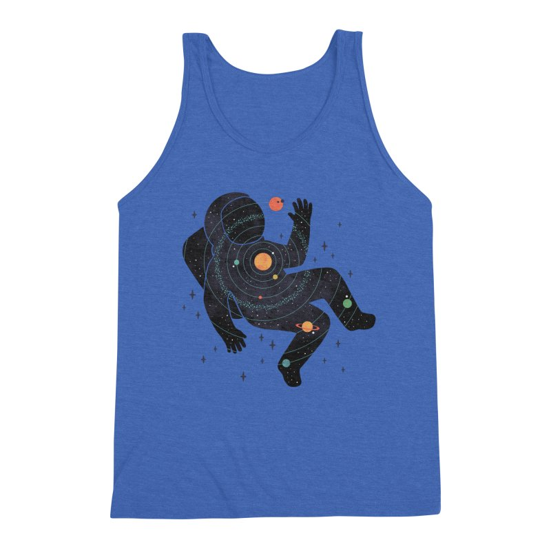 Inner Space Men's Triblend Tank by thepapercrane's shop