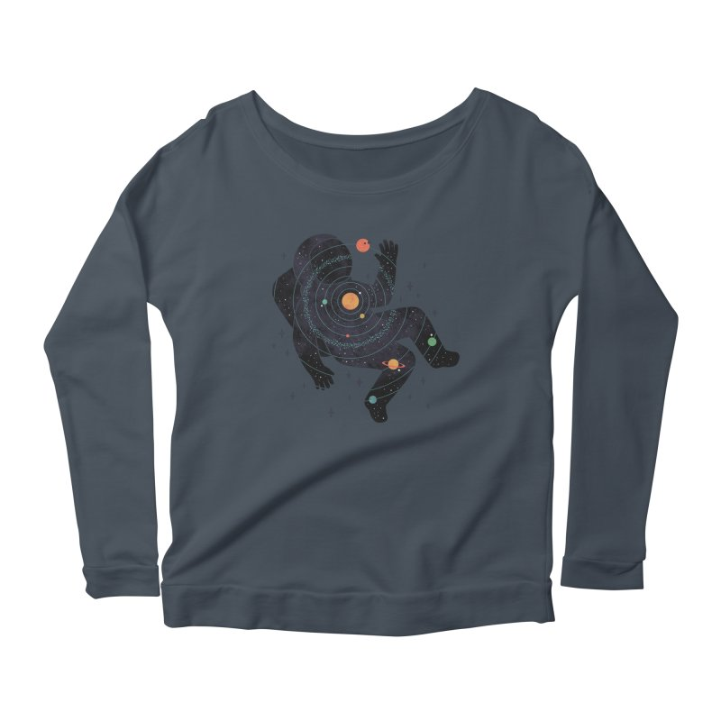 Inner Space Women's Scoop Neck Longsleeve T-Shirt by thepapercrane's shop