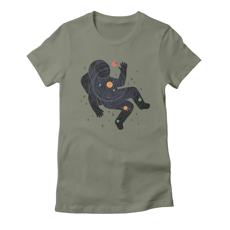 Inner Space Women's Fitted T-Shirt by thepapercrane's shop