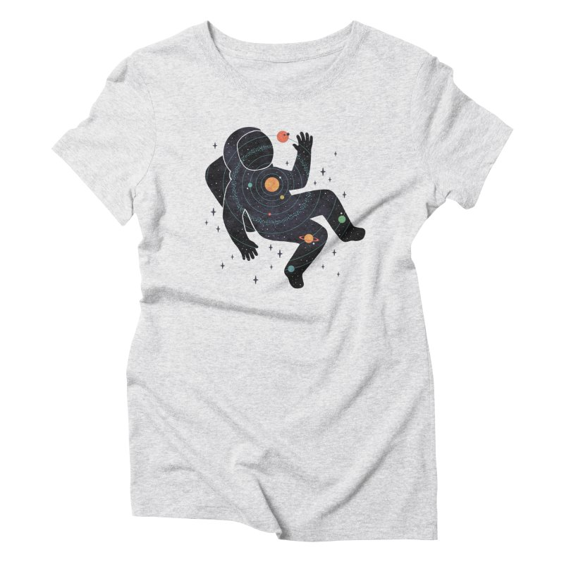 Inner Space Women's Triblend T-Shirt by thepapercrane's shop