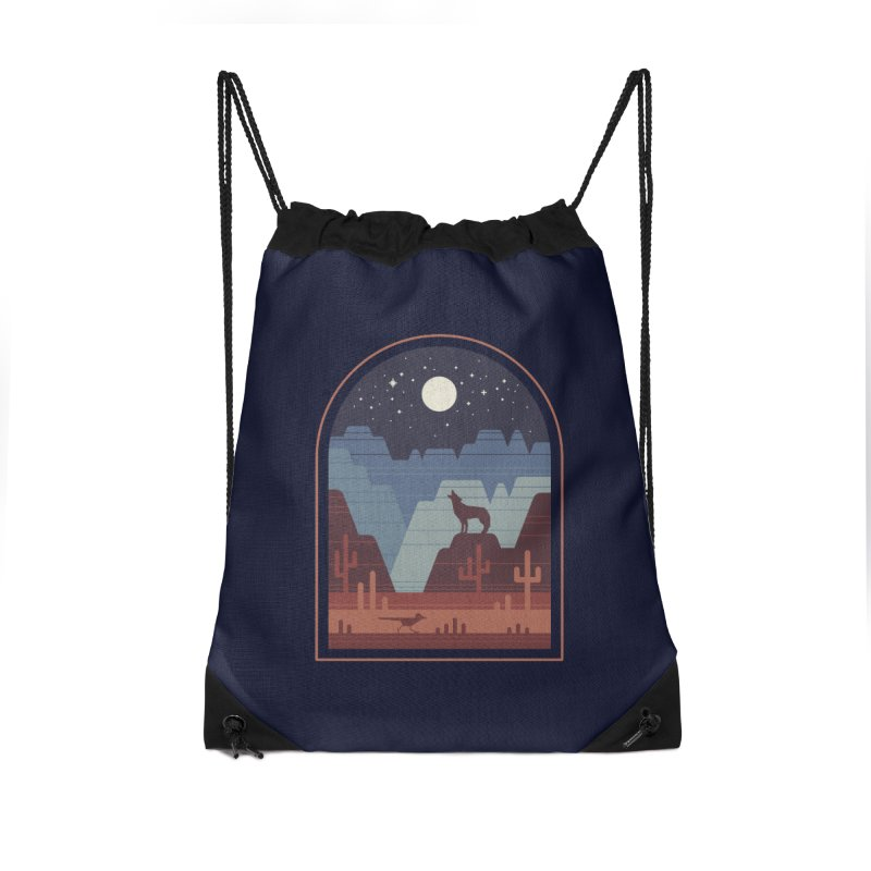 Wild Night Accessories Drawstring Bag Bag by thepapercrane's shop