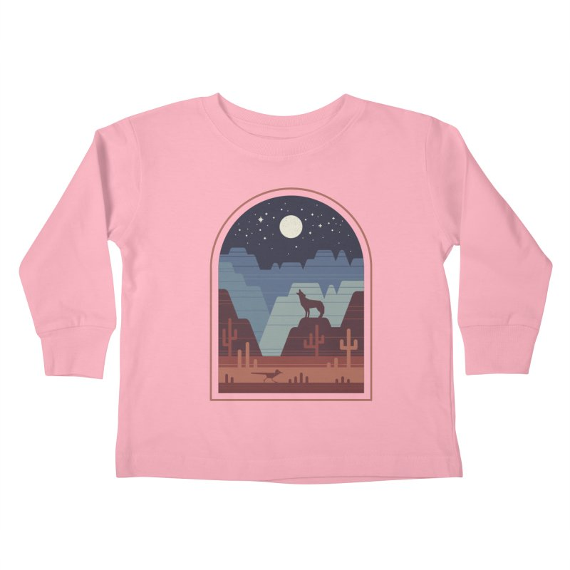 Wild Night Kids Toddler Longsleeve T-Shirt by thepapercrane's shop