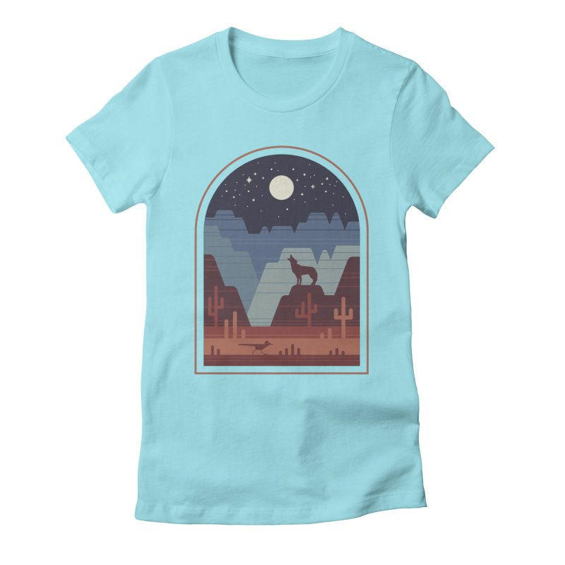 Wild Night Women's Fitted T-Shirt by thepapercrane's shop