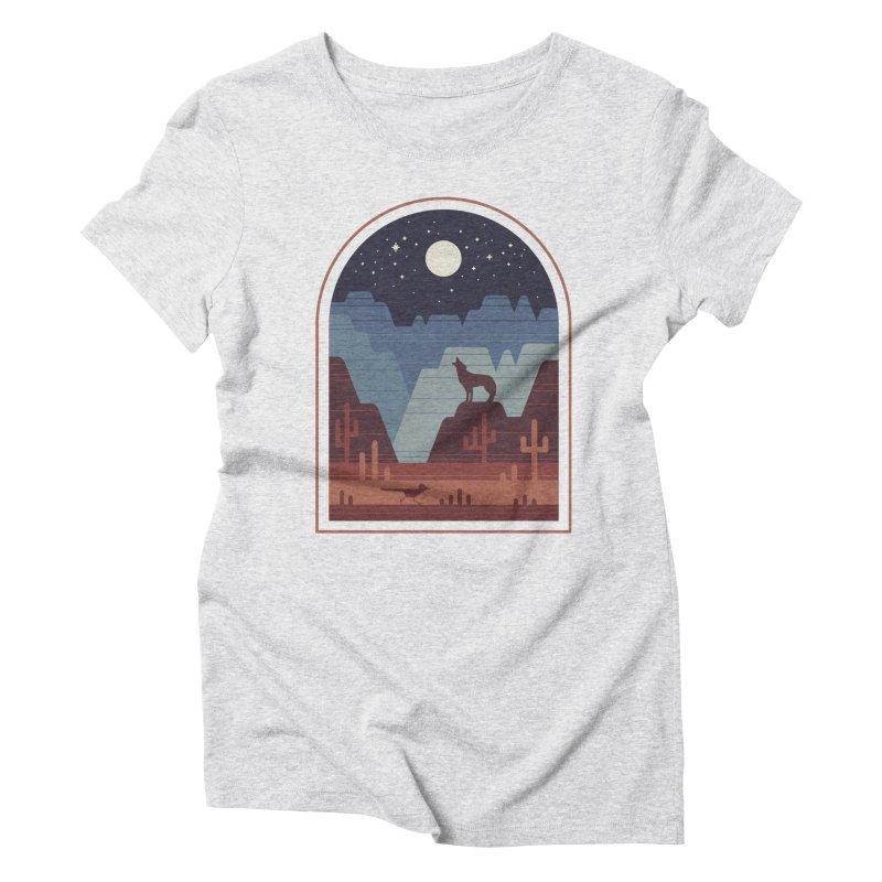 Wild Night Women's Triblend T-Shirt by thepapercrane's shop