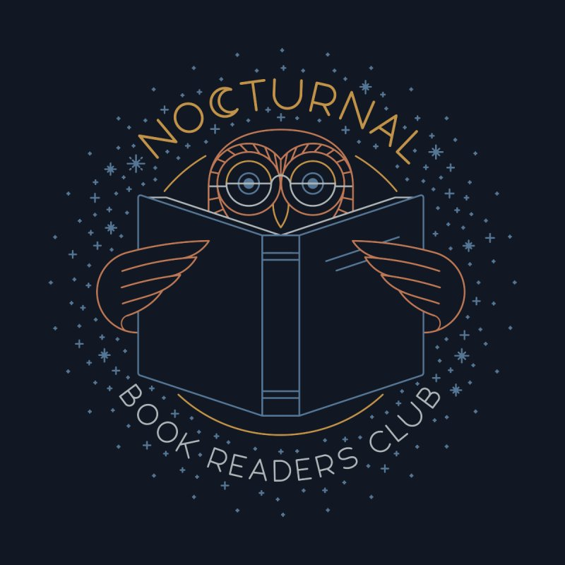 Nocturnal Book Readers Club by thepapercrane's shop