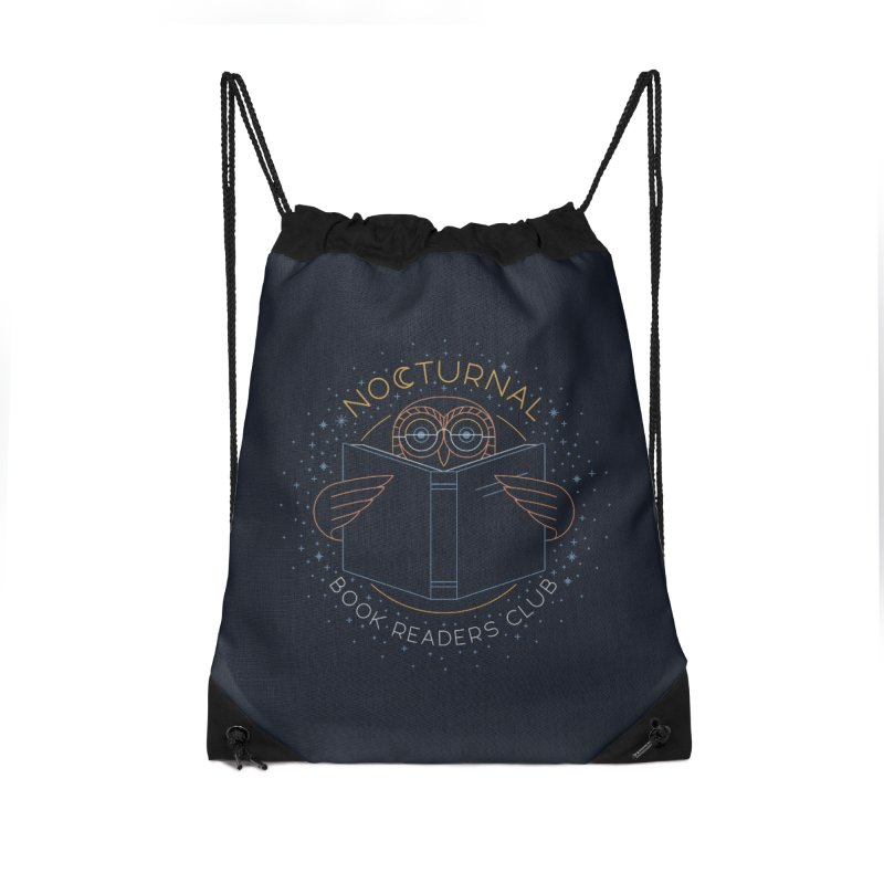 Nocturnal Book Readers Club Accessories Drawstring Bag Bag by thepapercrane's shop