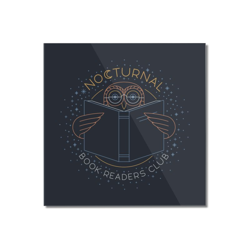 Nocturnal Book Readers Club Home Mounted Acrylic Print by thepapercrane's shop