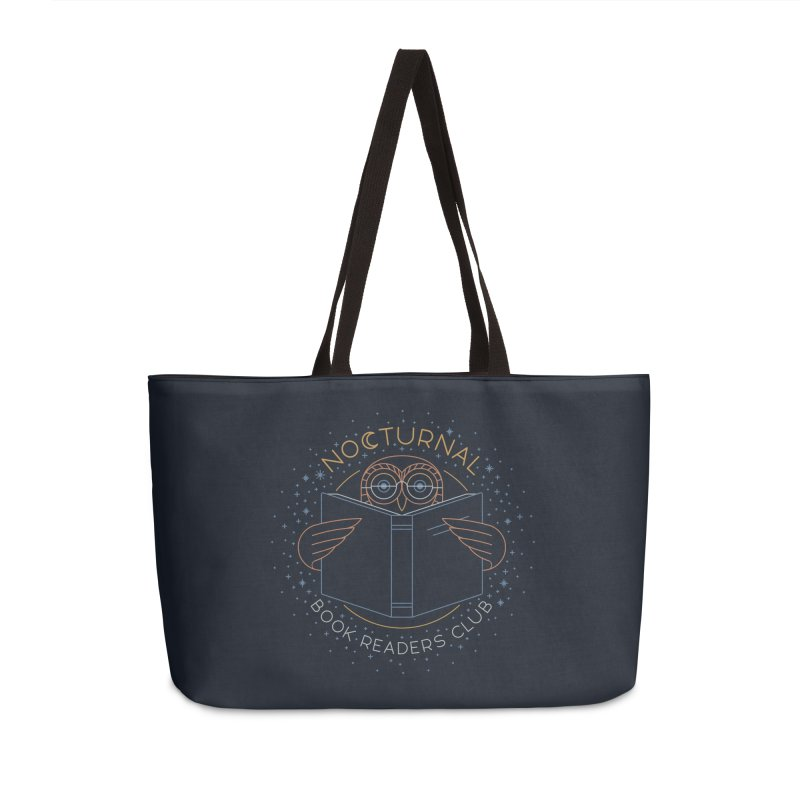 Nocturnal Book Readers Club Accessories Weekender Bag Bag by thepapercrane's shop