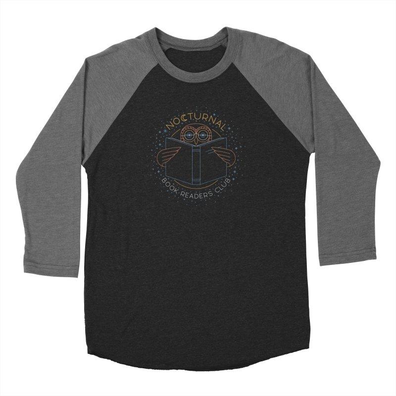 Nocturnal Book Readers Club Men's Baseball Triblend Longsleeve T-Shirt by thepapercrane's shop
