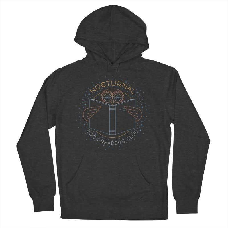 Nocturnal Book Readers Club Women's French Terry Pullover Hoody by thepapercrane's shop