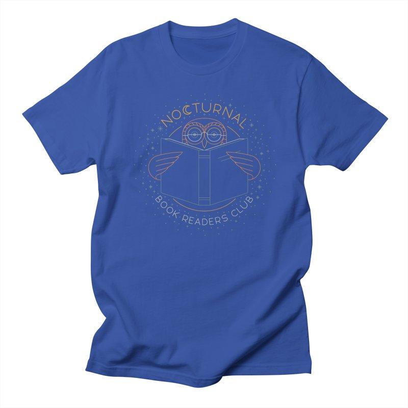Nocturnal Book Readers Club Men's Regular T-Shirt by thepapercrane's shop