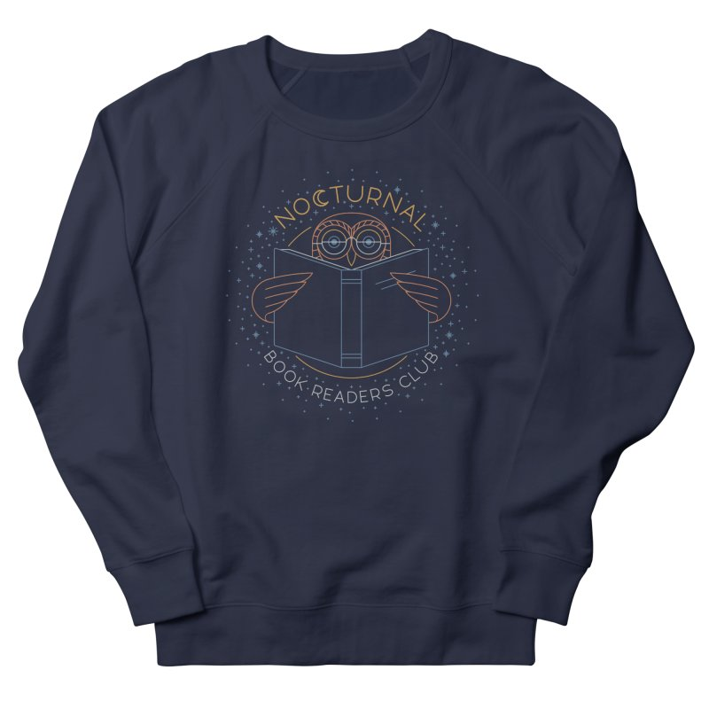 Nocturnal Book Readers Club Women's French Terry Sweatshirt by thepapercrane's shop