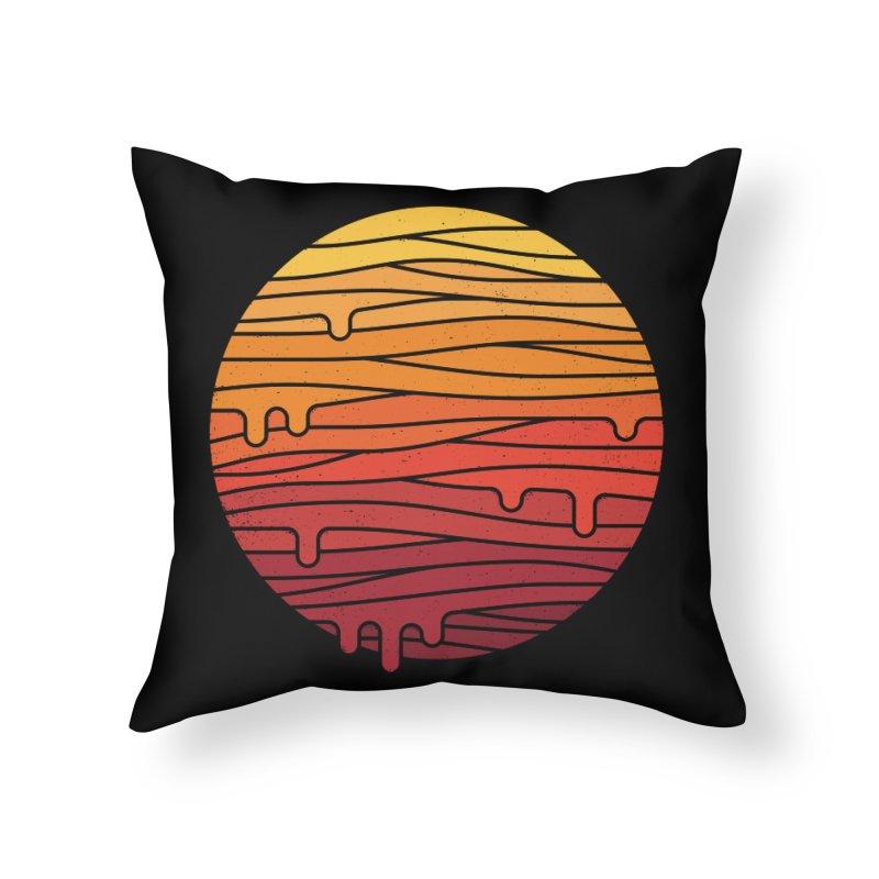 Heat Wave Home Throw Pillow by thepapercrane's shop