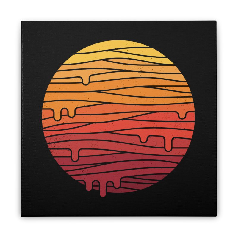 Heat Wave Home Stretched Canvas by thepapercrane's shop