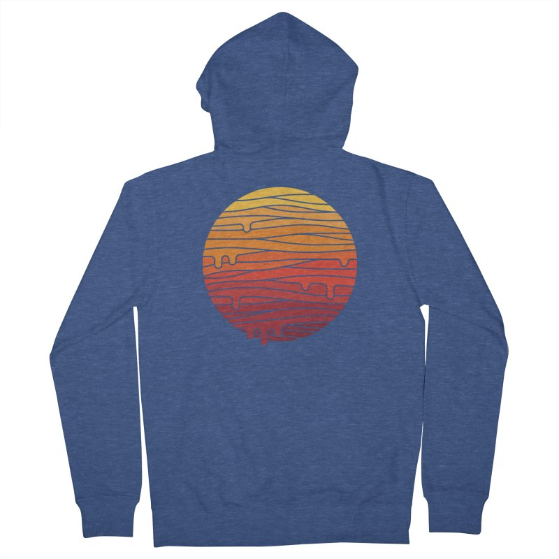 Heat Wave Men's French Terry Zip-Up Hoody by thepapercrane's shop