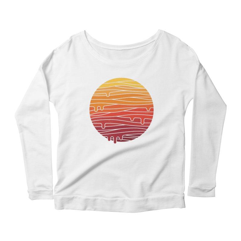 Heat Wave Women's Scoop Neck Longsleeve T-Shirt by thepapercrane's shop