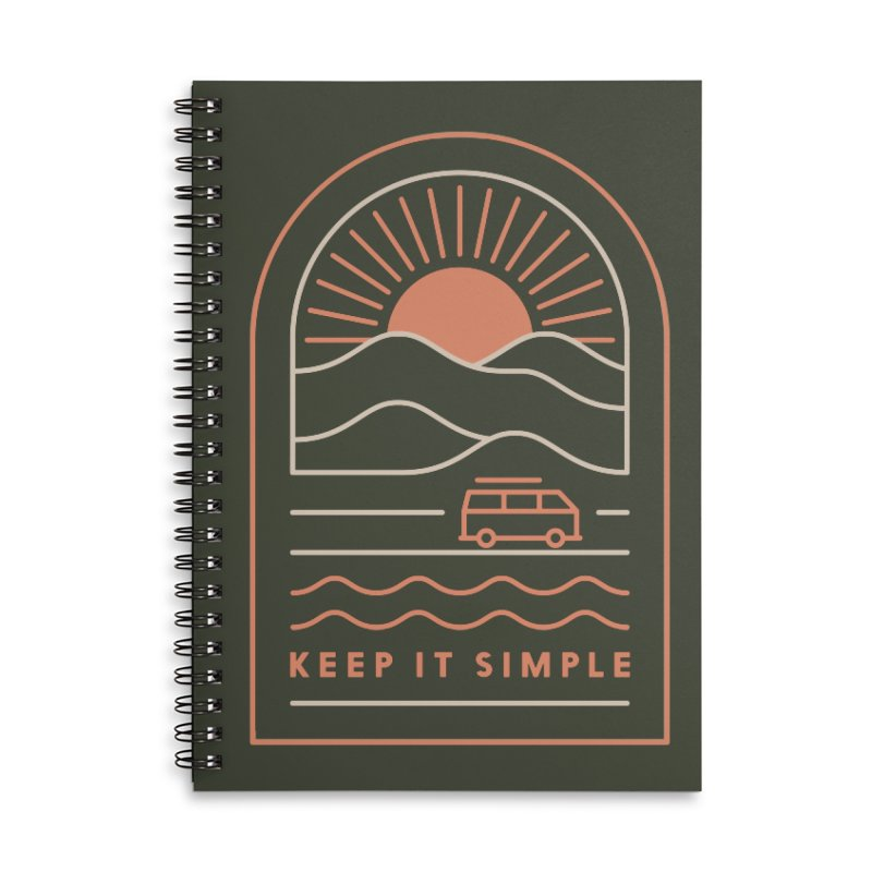 Keep It Simple Accessories Lined Spiral Notebook by thepapercrane's shop