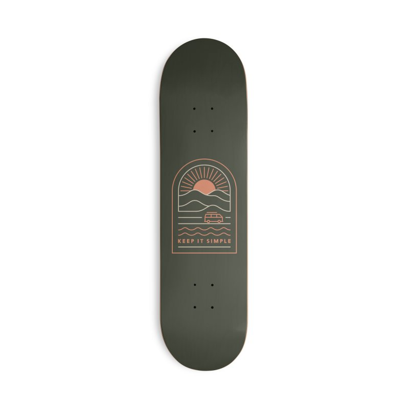 Keep It Simple Accessories Skateboard by thepapercrane's shop