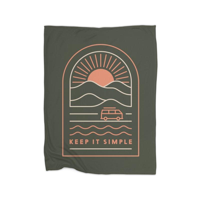 Keep It Simple Home Fleece Blanket Blanket by thepapercrane's shop