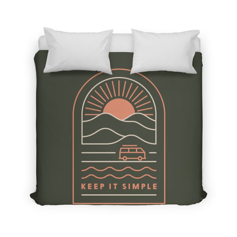 Keep It Simple Home Duvet by thepapercrane's shop