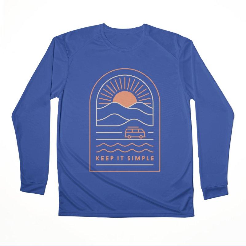 Keep It Simple Men's Performance Longsleeve T-Shirt by thepapercrane's shop