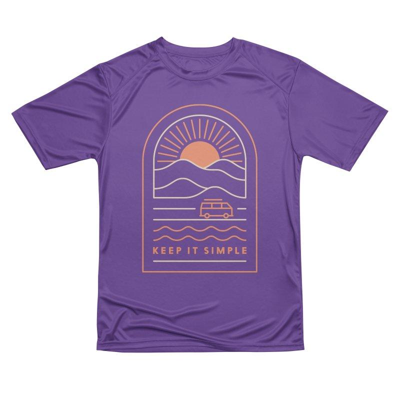 Keep It Simple Women's Performance Unisex T-Shirt by thepapercrane's shop