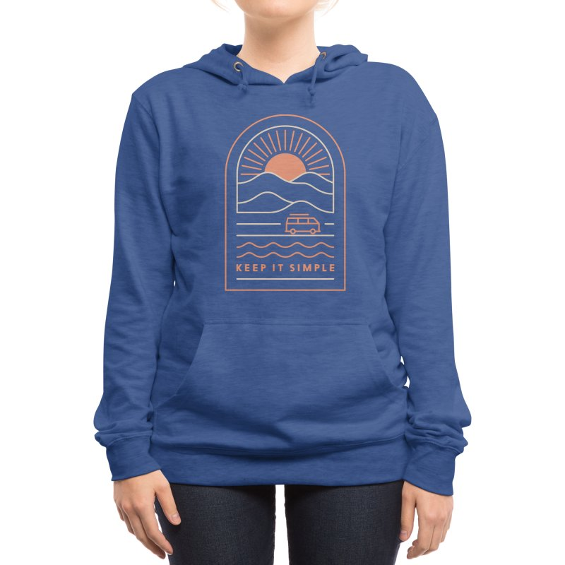 Keep It Simple Women's Pullover Hoody by thepapercrane's shop